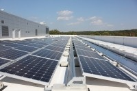 Solar panels at L'Oreal USA's award-winning offices in Berkeley Heights, NJ